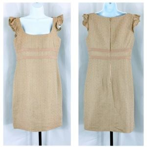Red Valentino Woven Linen Blend Shift Dress